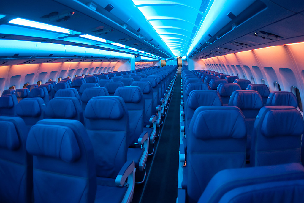 Interior of a passenger jet